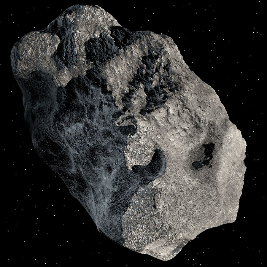 Asteroide royalty-free 3d model - Preview no. 9