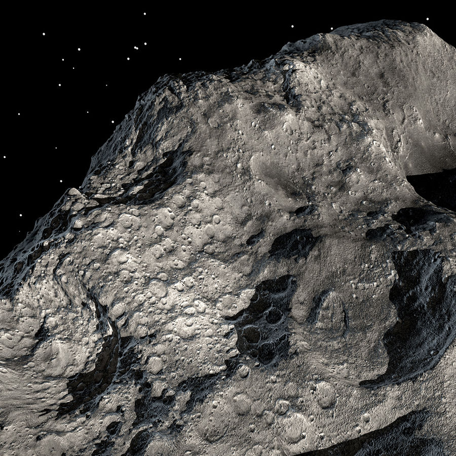 Asteroide royalty-free 3d model - Preview no. 10
