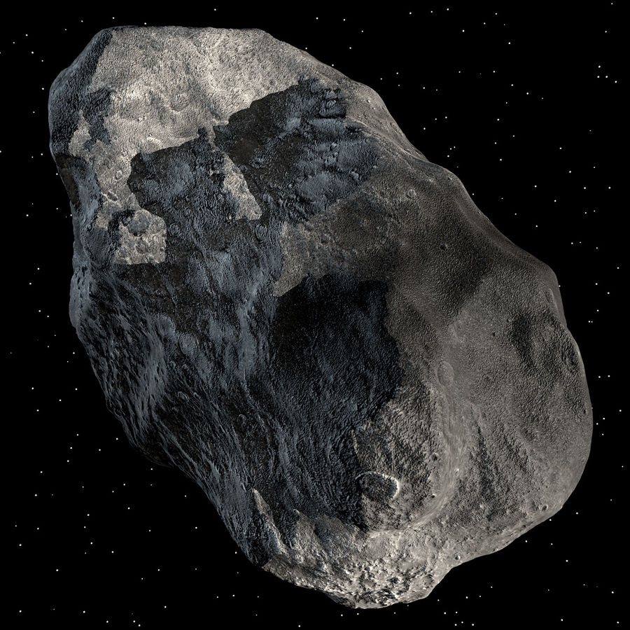 Asteroide royalty-free 3d model - Preview no. 5