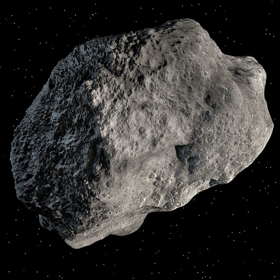 Asteroide royalty-free 3d model - Preview no. 4