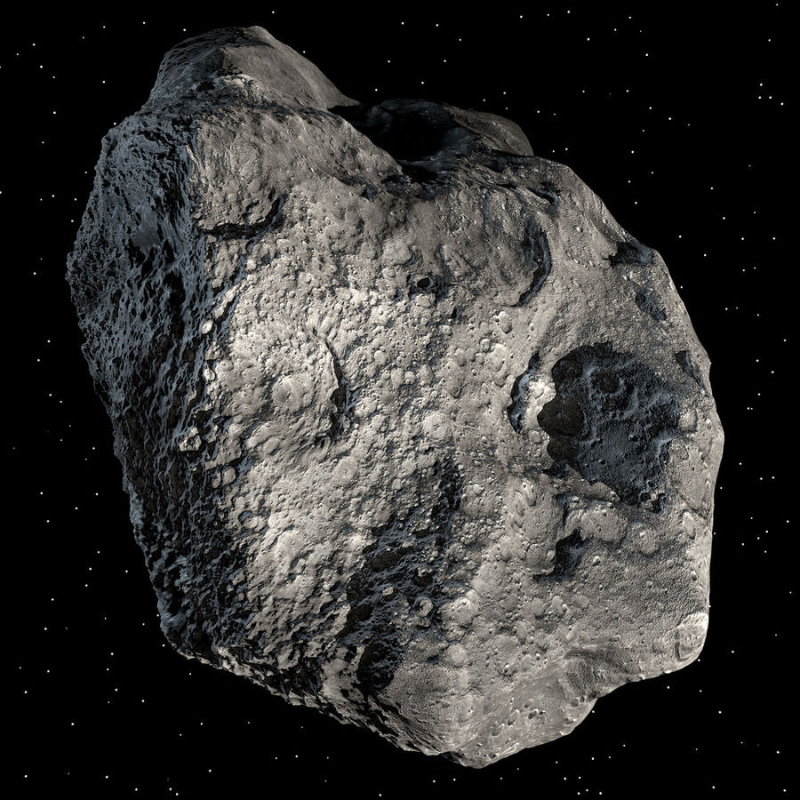 Asteroide royalty-free 3d model - Preview no. 3