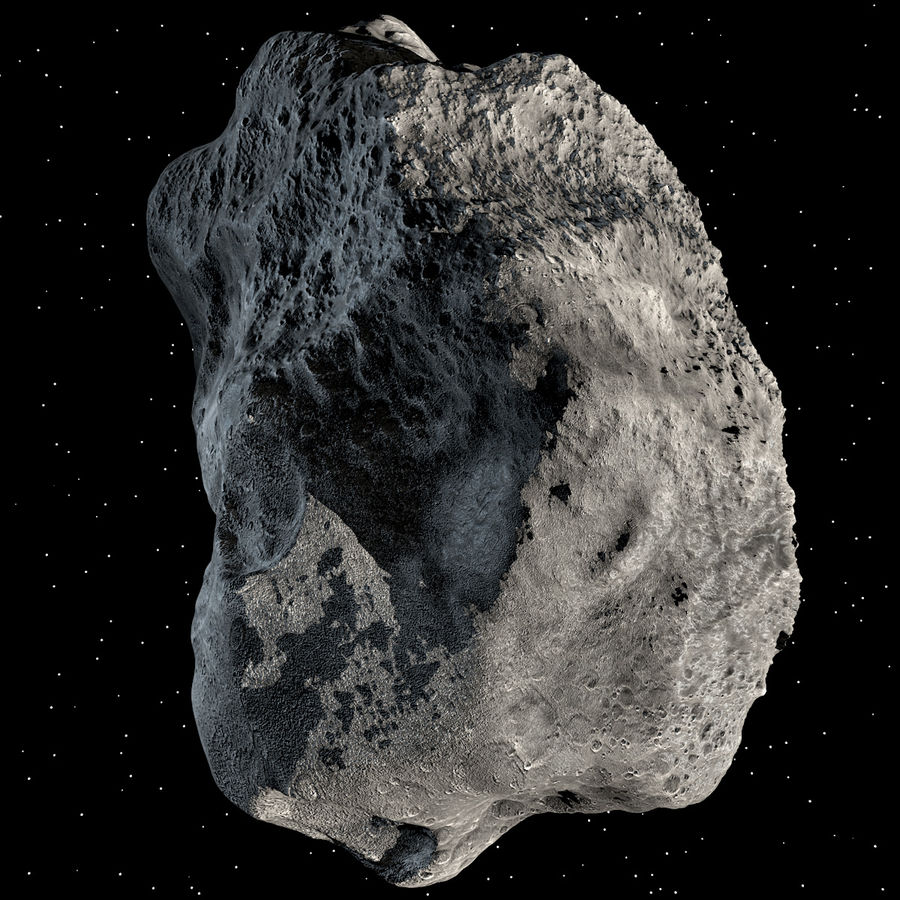 Asteroide royalty-free 3d model - Preview no. 7