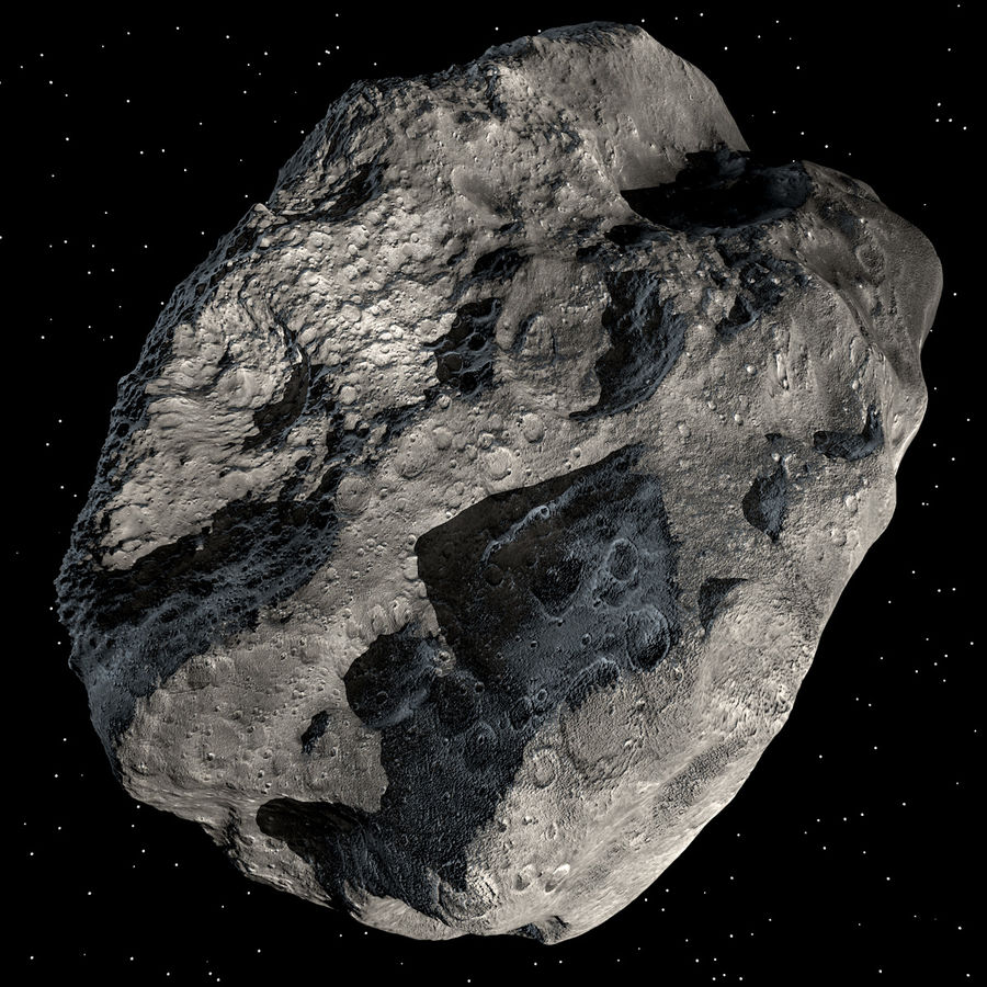 Asteroide royalty-free 3d model - Preview no. 2