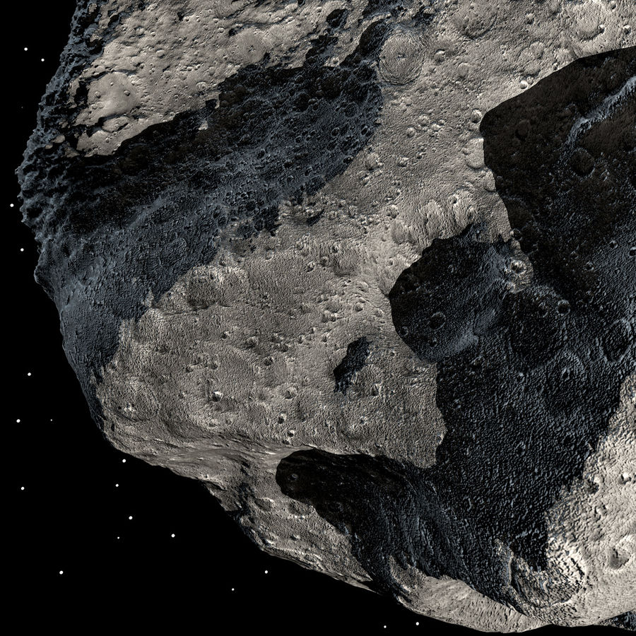 Asteroide royalty-free 3d model - Preview no. 13