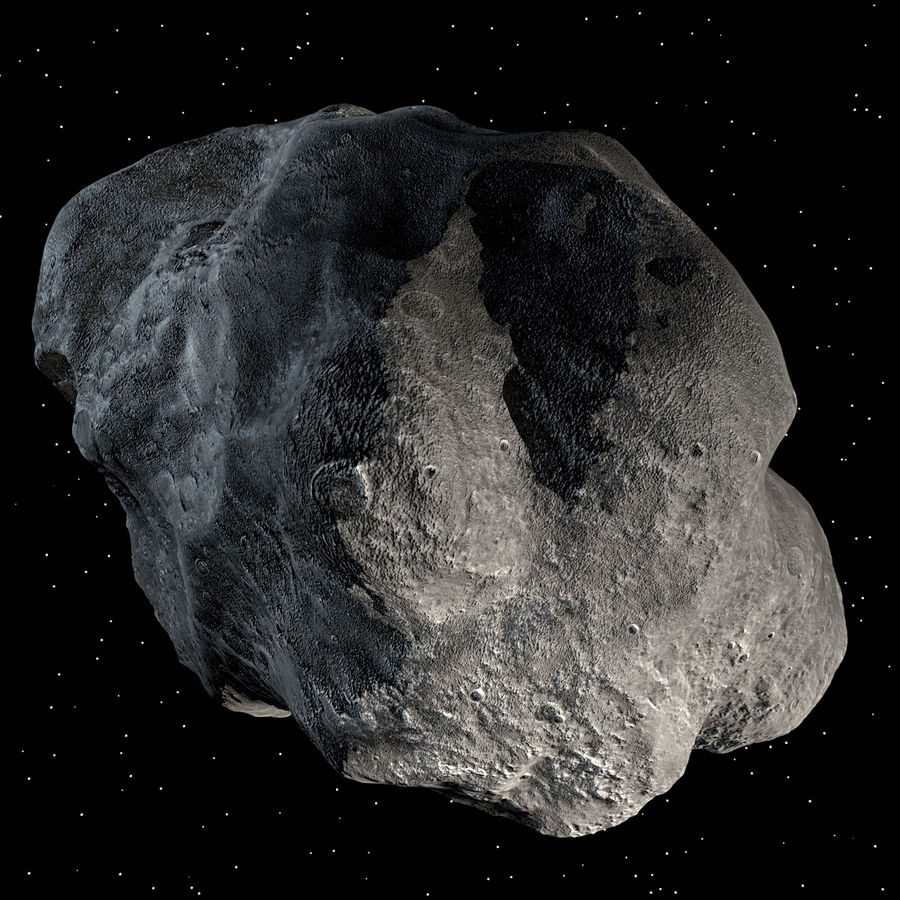 Asteroide royalty-free 3d model - Preview no. 6