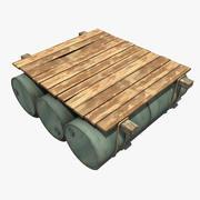 Old Raft 3d model