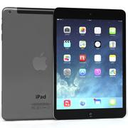 Apple iPad AirおよびMini 2 Wi-Fi + Cellular Grey 3d model