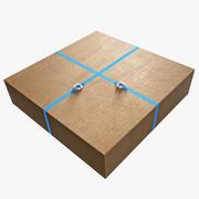 Cardboards Stack 3d model
