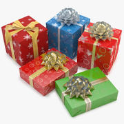 Collection Christmas Gift 3d model