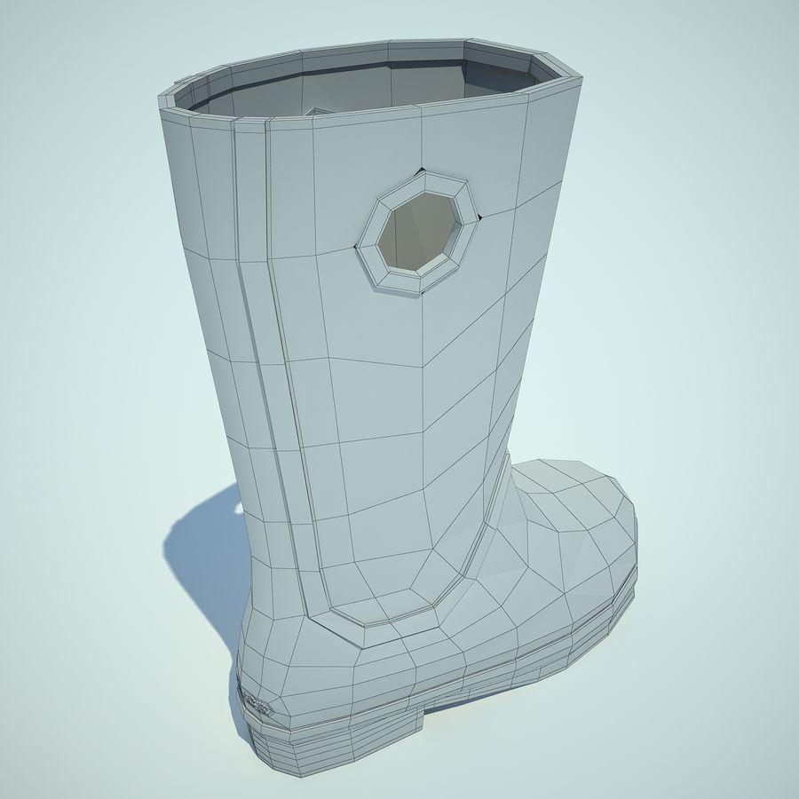 Crocs Rain Boot 01 royalty-free 3d model - Preview no. 8