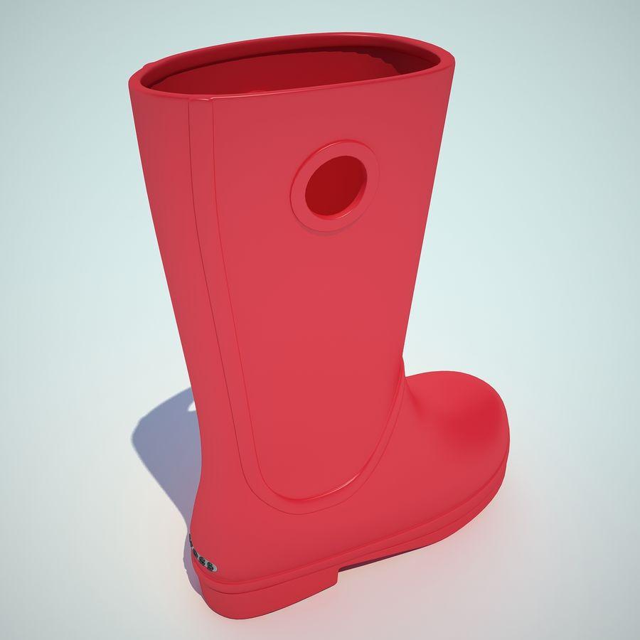Crocs Rain Boot 01 royalty-free 3d model - Preview no. 7