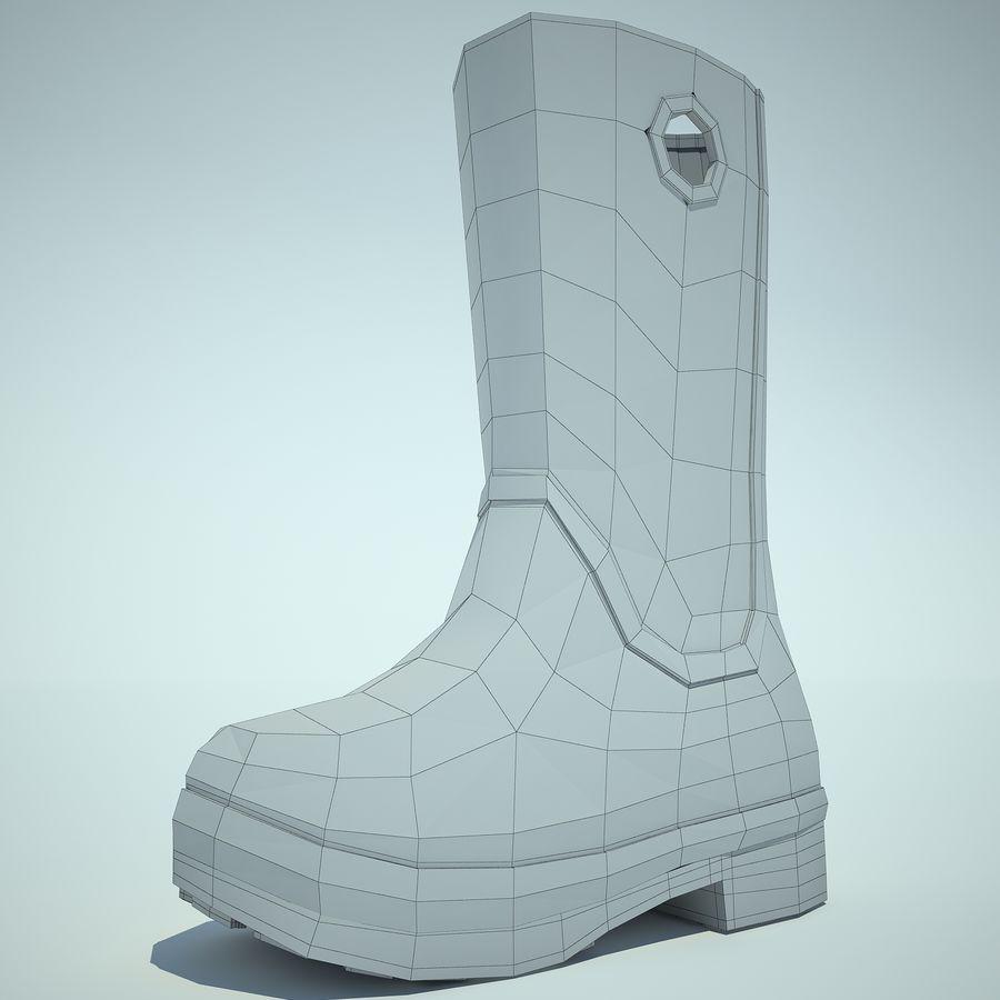 Crocs Rain Boot 01 royalty-free 3d model - Preview no. 12