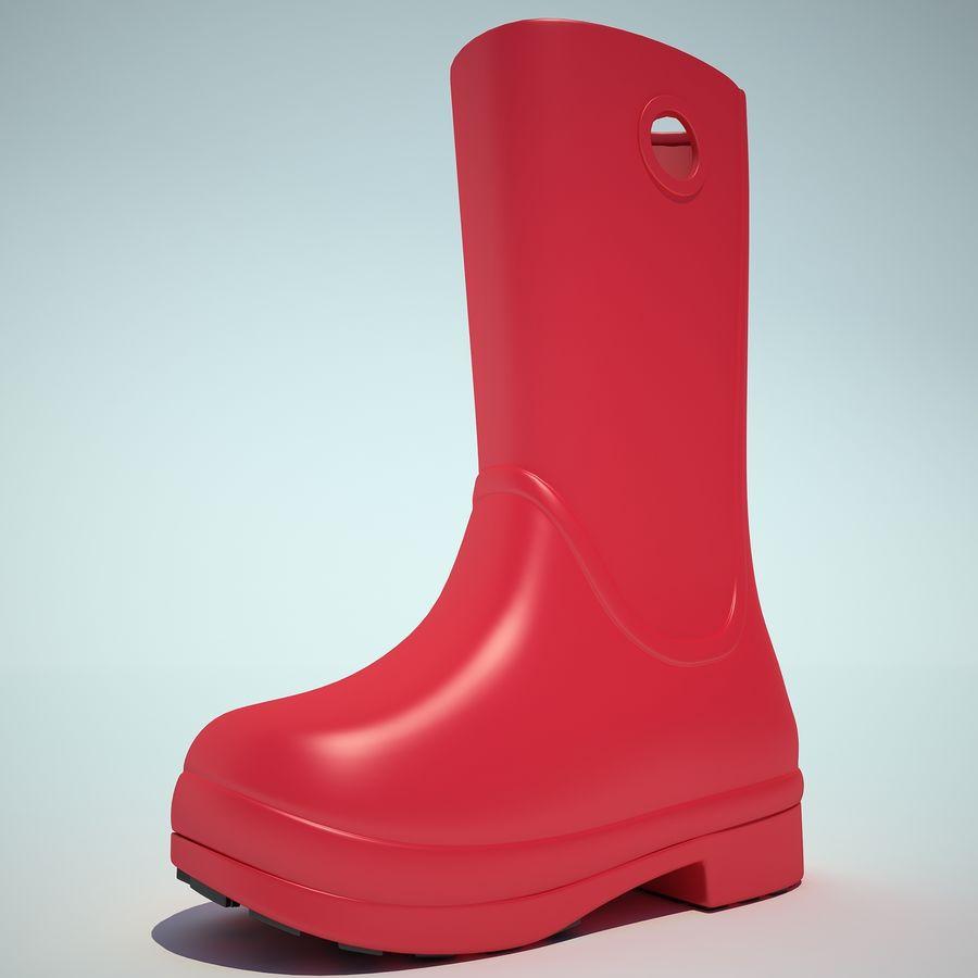 Crocs Rain Boot 01 royalty-free 3d model - Preview no. 11