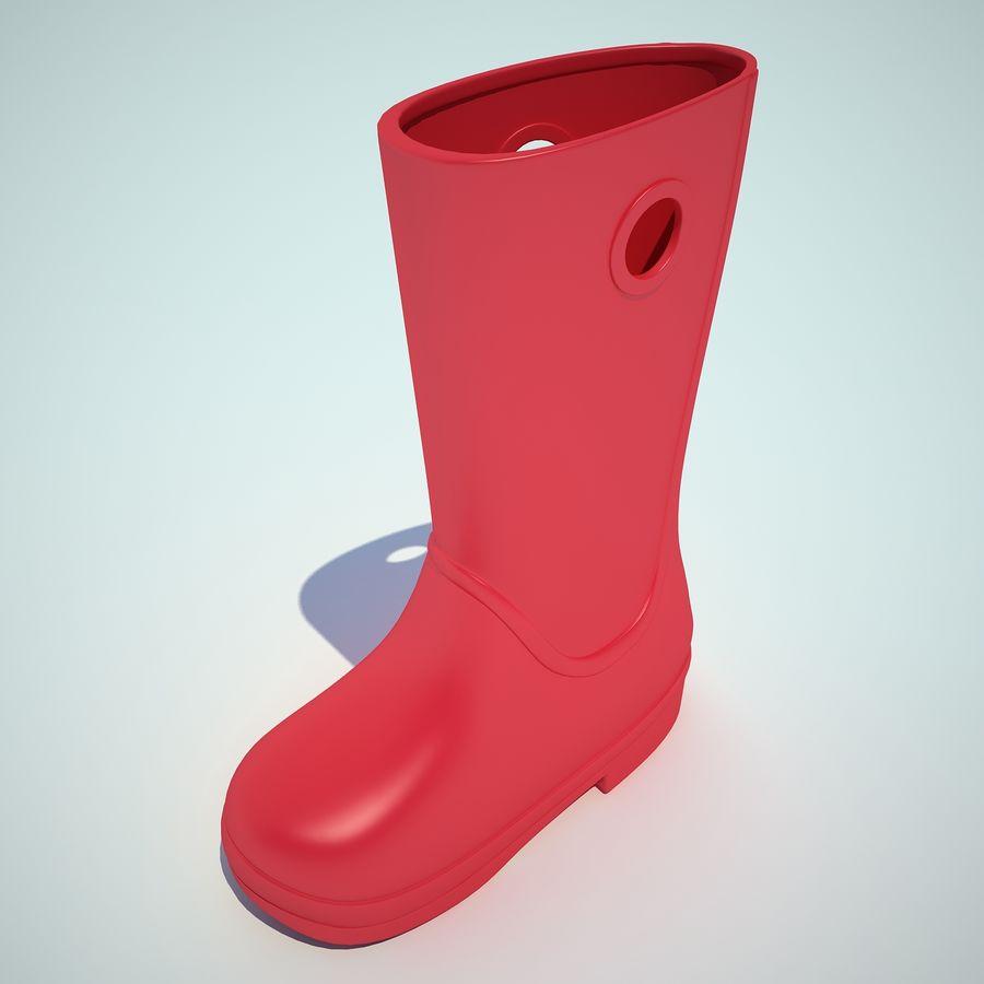 Crocs Rain Boot 01 royalty-free 3d model - Preview no. 5