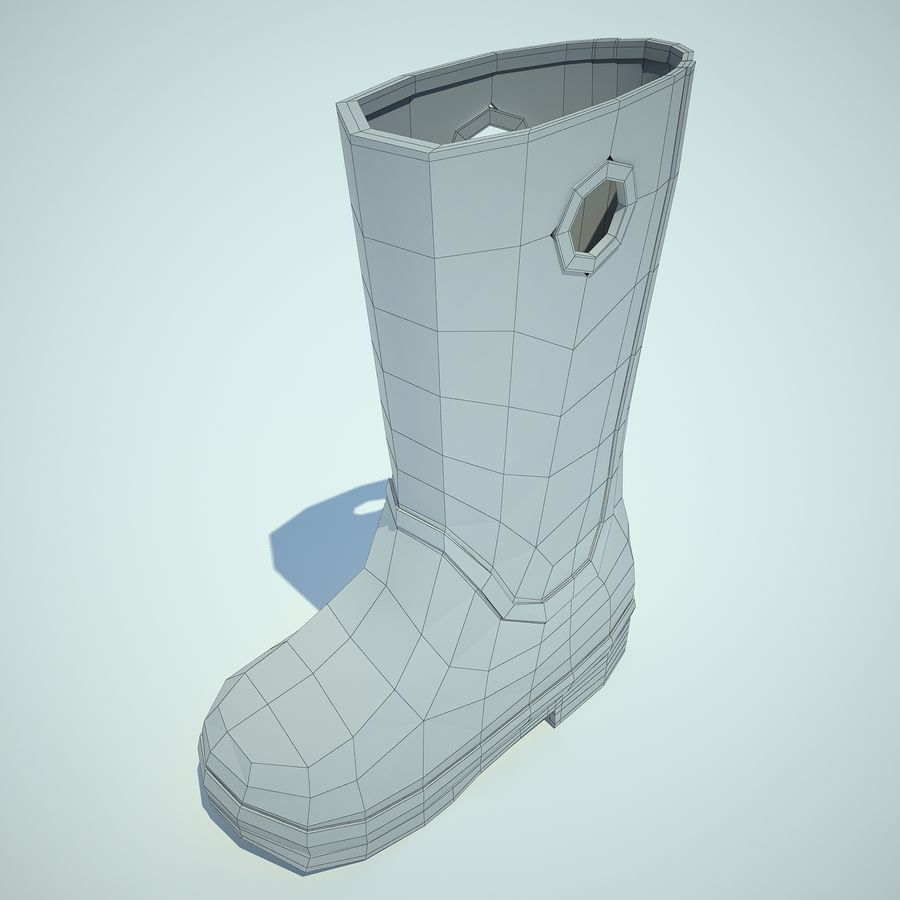 Crocs Rain Boot 01 royalty-free 3d model - Preview no. 6