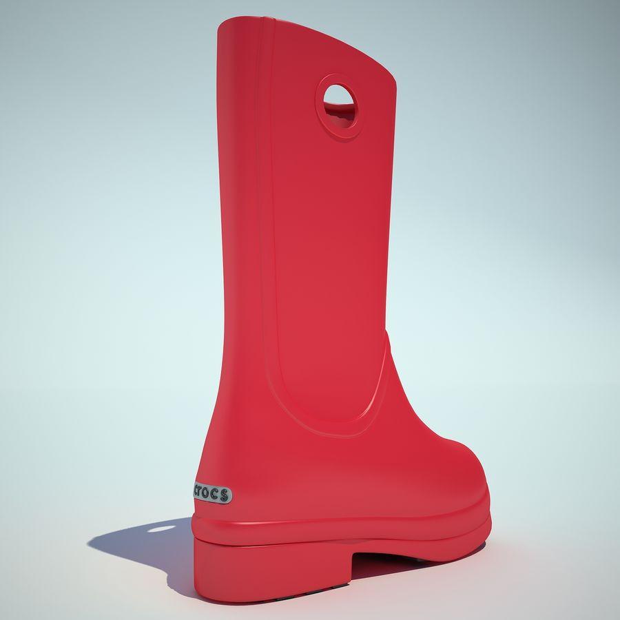 Crocs Rain Boot 01 royalty-free 3d model - Preview no. 9