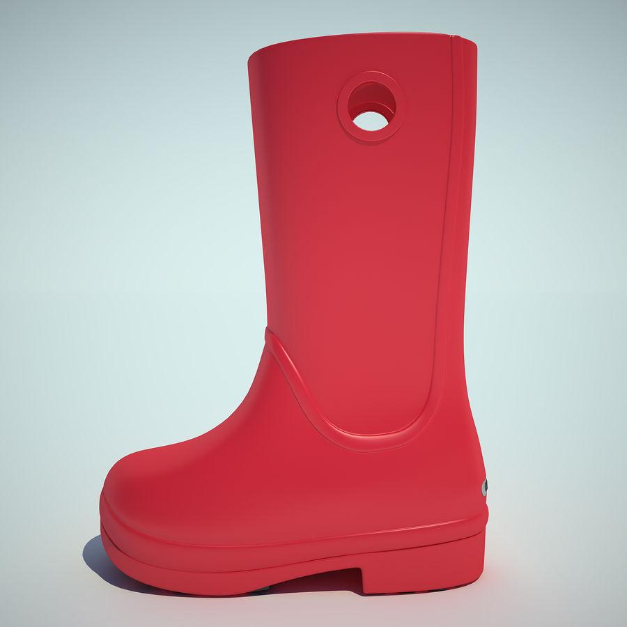 Crocs Rain Boot 01 royalty-free 3d model - Preview no. 2