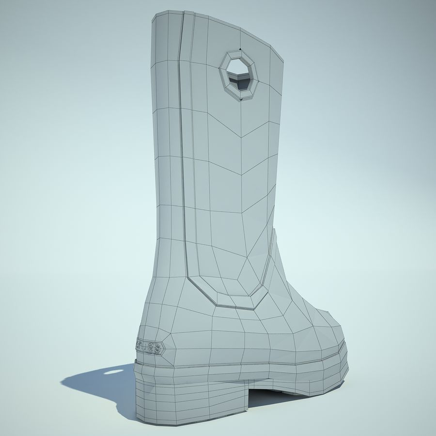 Crocs Rain Boot 01 royalty-free 3d model - Preview no. 10