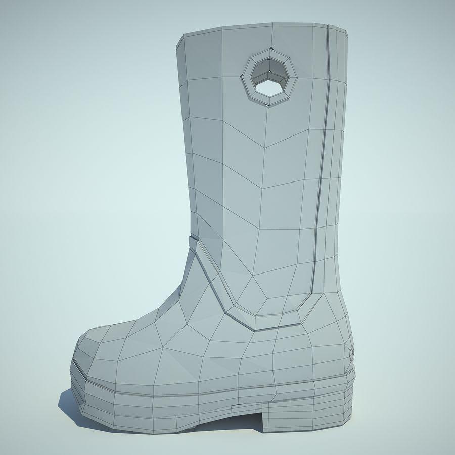 Crocs Rain Boot 01 royalty-free 3d model - Preview no. 4