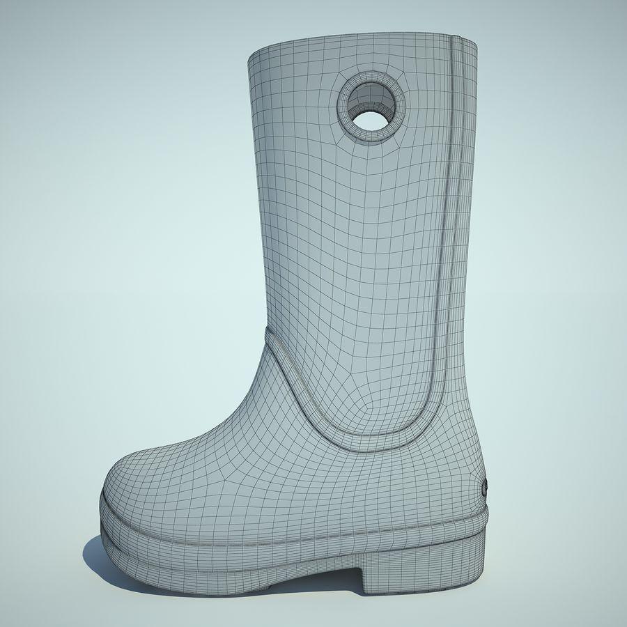 Crocs Rain Boot 01 royalty-free 3d model - Preview no. 3