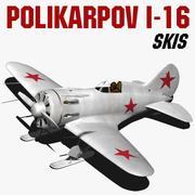 Polikarpov I-16 Skis 3d model