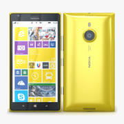Nokia Lumia 1520 желтый 3d model