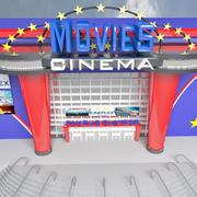 CINEMA MODERNO 3d model