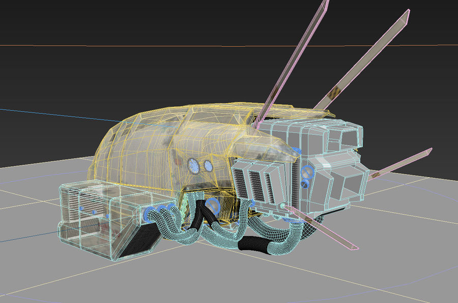 space ship royalty-free 3d model - Preview no. 11
