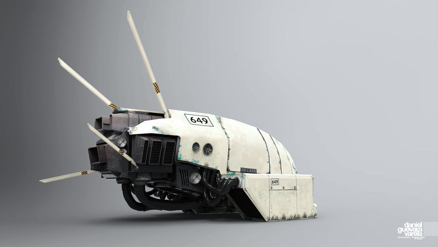 space ship royalty-free 3d model - Preview no. 1