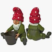 Gnome de Pelouse avec Panier 3d model