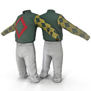 Jockeykleidung 3 3d model