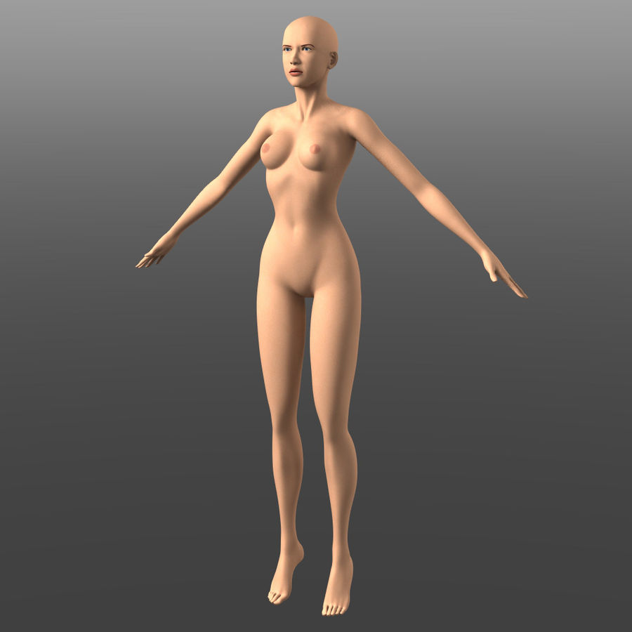 Generic Young Woman royalty-free 3d model - Preview no. 2