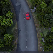 Scena di strada forestale 3d model