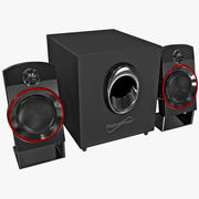 Speaker System Supersonic 3d model
