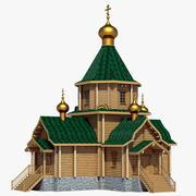 Rus Ahşap Kilisesi 3d model
