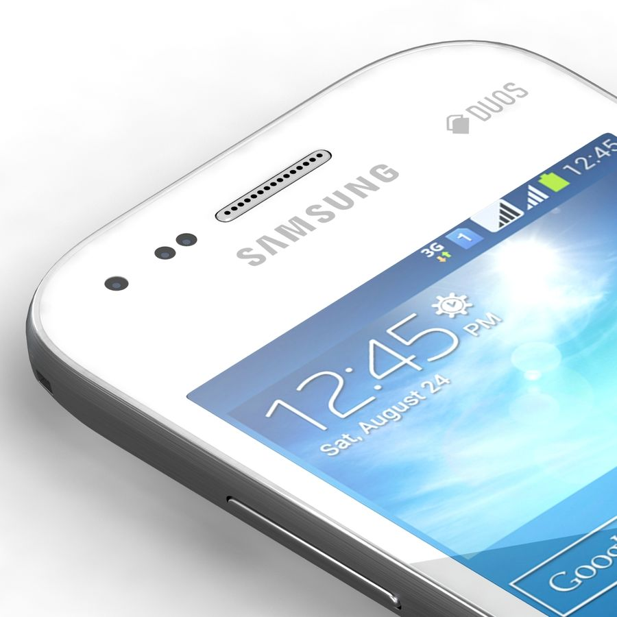 Samsung Galaxy S Duos 2 Black And White royalty-free 3d model - Preview no. 7