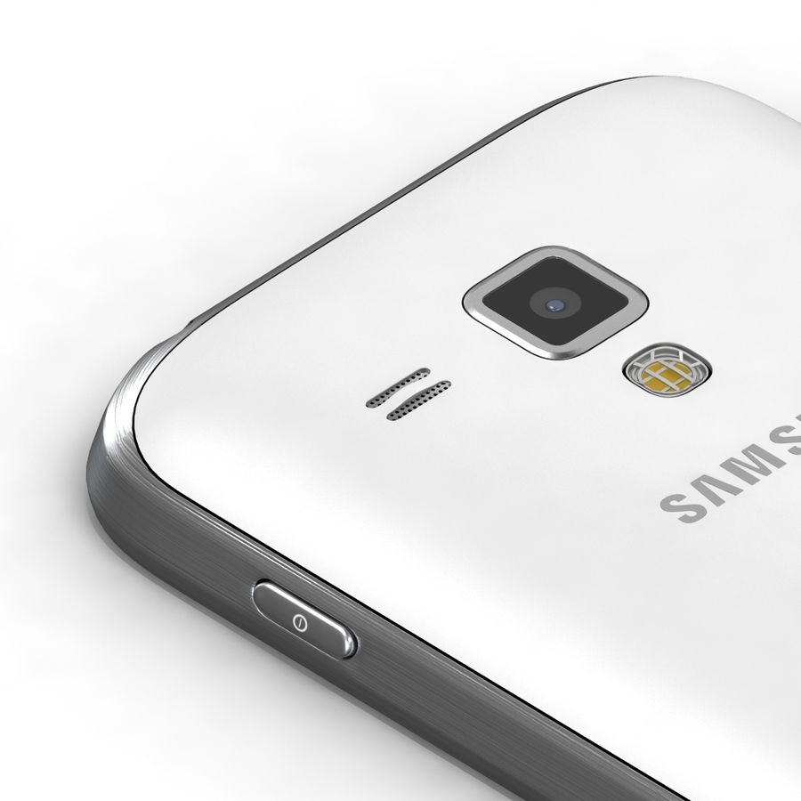 Samsung Galaxy S Duos 2 Black And White royalty-free 3d model - Preview no. 8