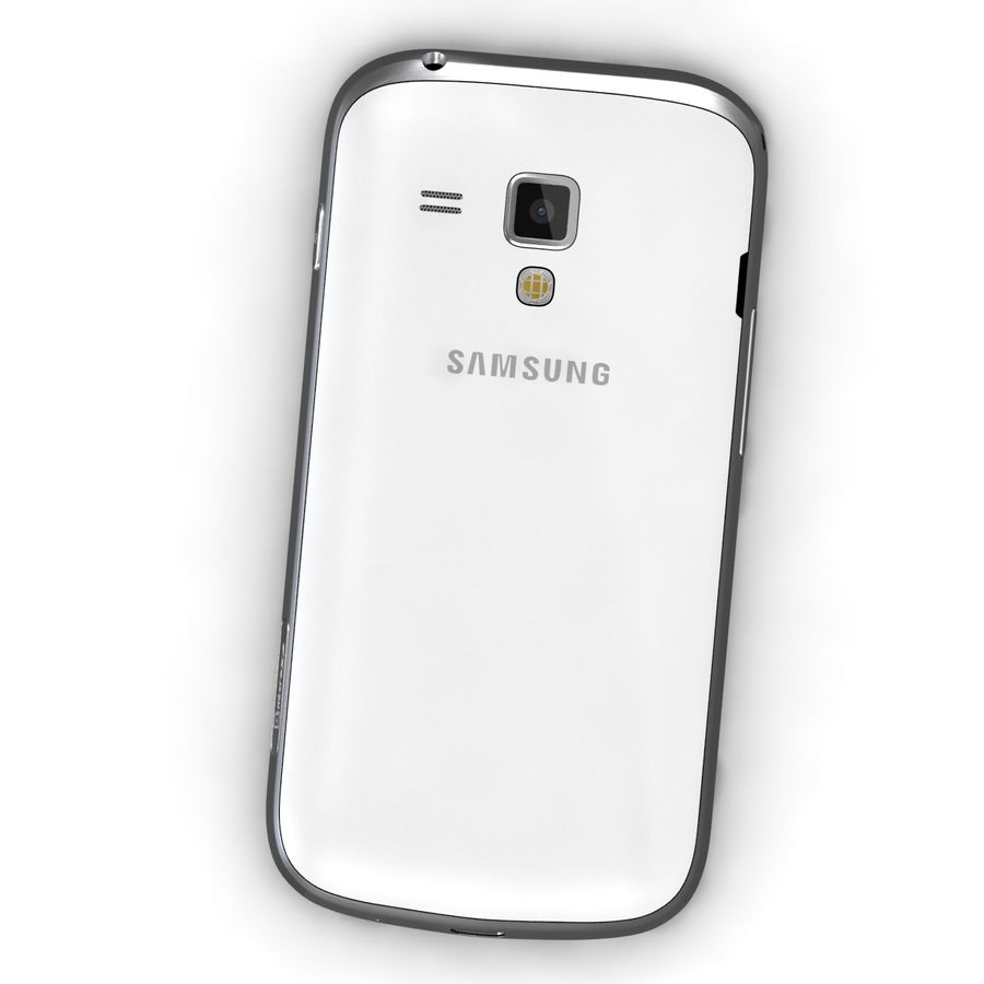 Samsung Galaxy S Duos 2 Black And White royalty-free 3d model - Preview no. 6