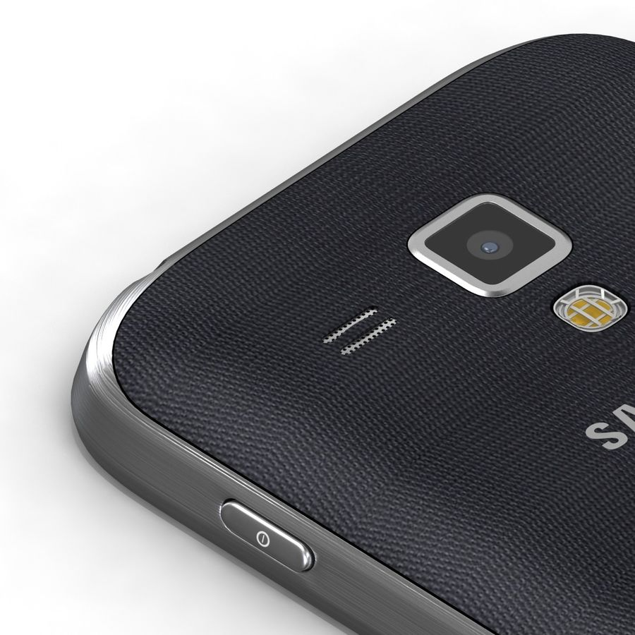 Samsung Galaxy S Duos 2 Black And White royalty-free 3d model - Preview no. 17