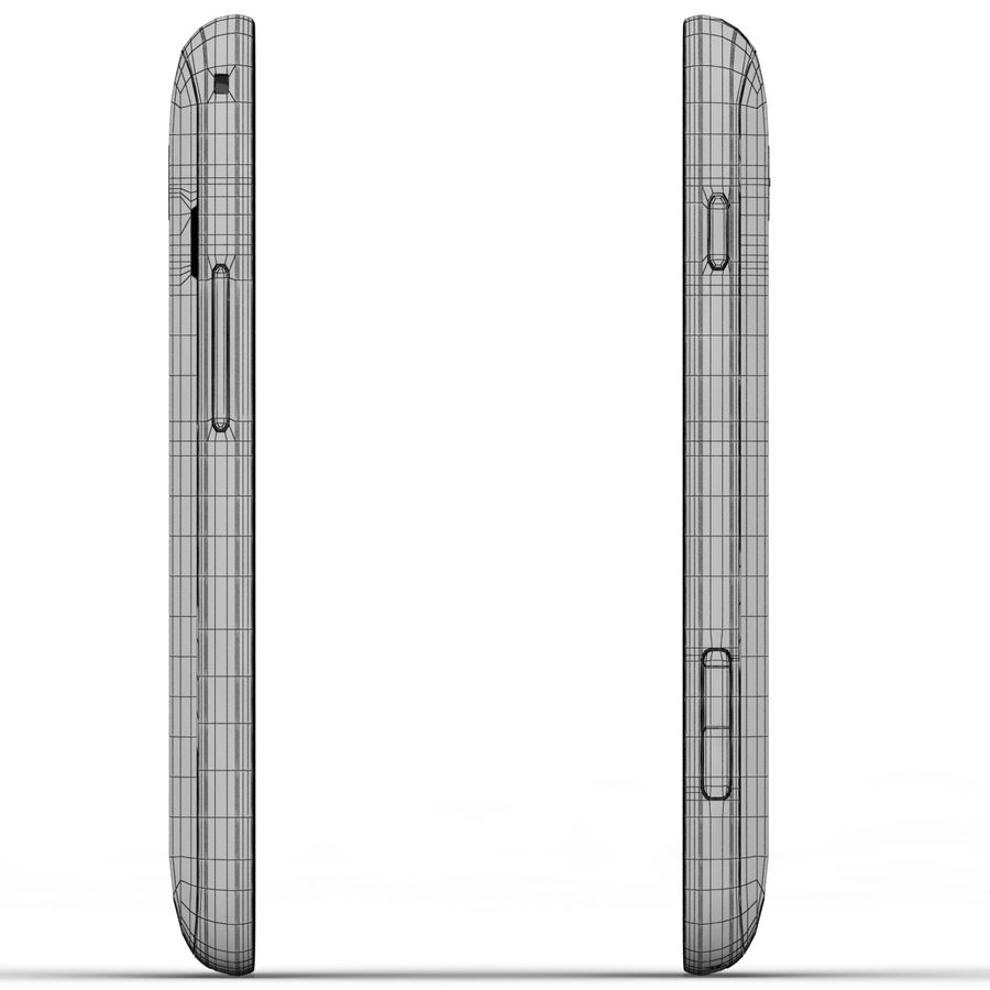 Samsung Galaxy S Duos 2 Black And White royalty-free 3d model - Preview no. 23