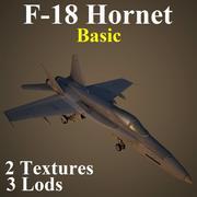 F18 Basic 3d model