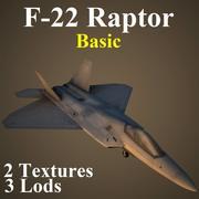 F22 Temel 3d model