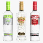 Kolekcja wódki Smirnoff 3d model