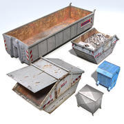 Pack Contenedores Residuos modelo 3d