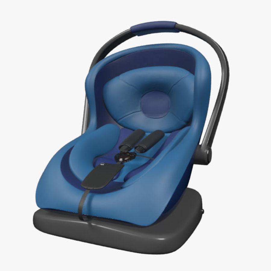 Spädbarns bilstol royalty-free 3d model - Preview no. 1