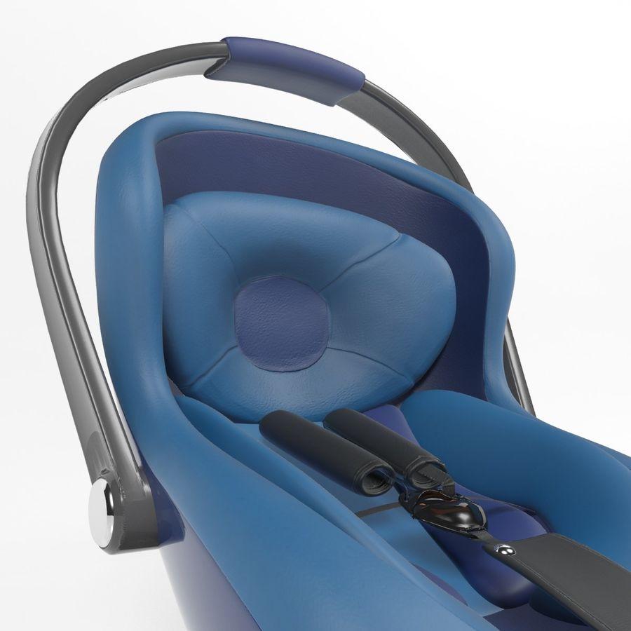 Spädbarns bilstol royalty-free 3d model - Preview no. 4