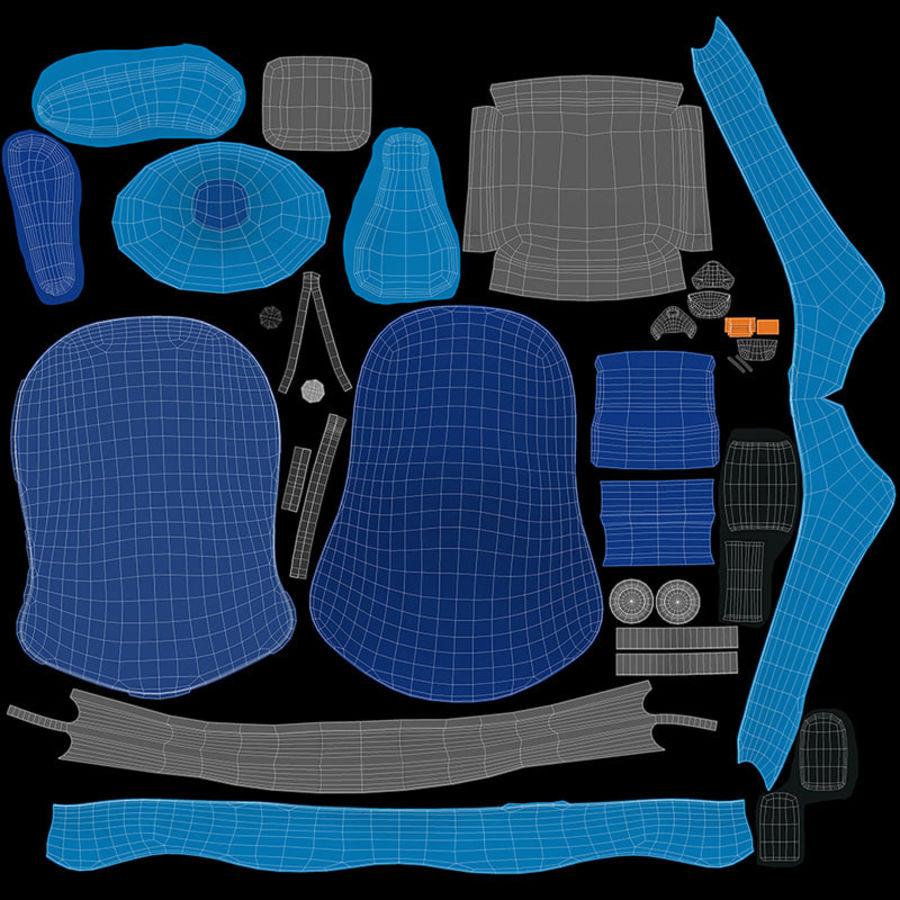 Spädbarns bilstol royalty-free 3d model - Preview no. 7