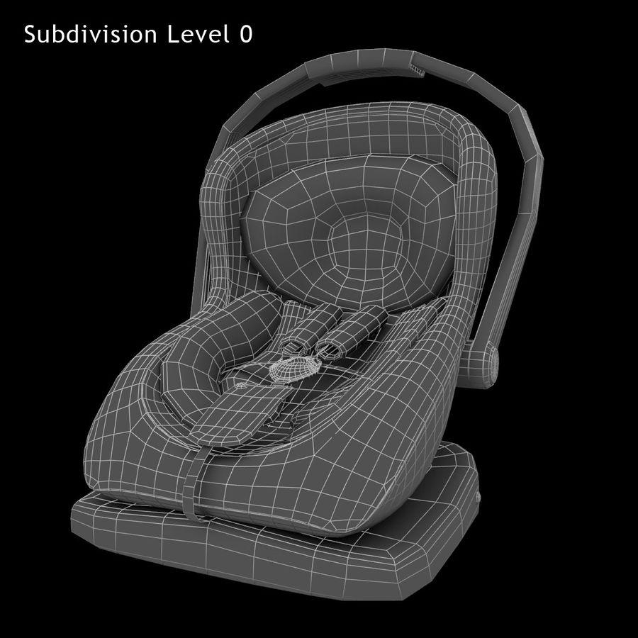 Spädbarns bilstol royalty-free 3d model - Preview no. 9