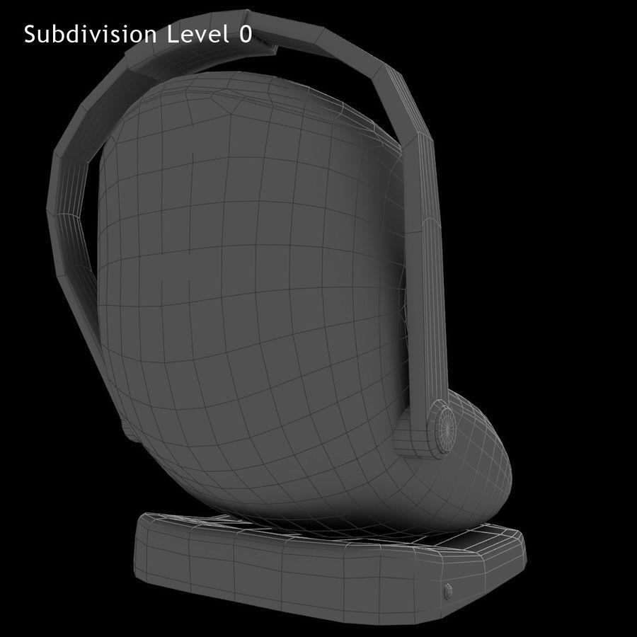 Spädbarns bilstol royalty-free 3d model - Preview no. 13