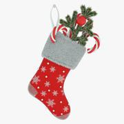 クリスマスの靴下 3d model